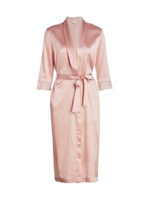 Adele Lace Silk Robe