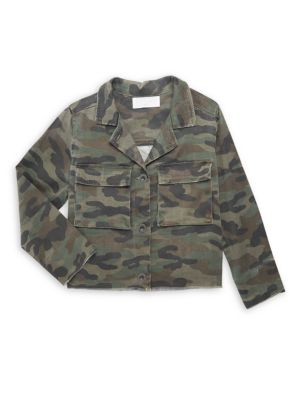 Little Girl's & Girl's Cropped Military Jacket