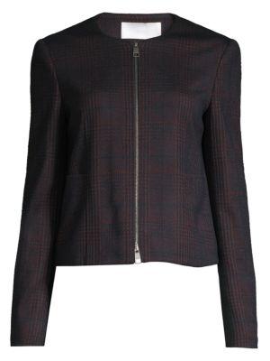 Javidar Bicolor Check Jersey Interlock Lady Jacket
