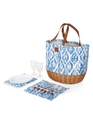 Promenade Picnic 13-Piece Flatware & Basket Set