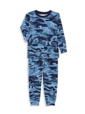 Little Boy's & Boy's Camouflage 2-Piece Pajama Set