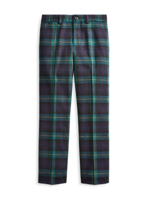 Little Boy's & Boy's Slim-Fit Plaid Wool Pants