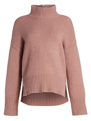 Virgin Wool-Blend Turtleneck Sweater