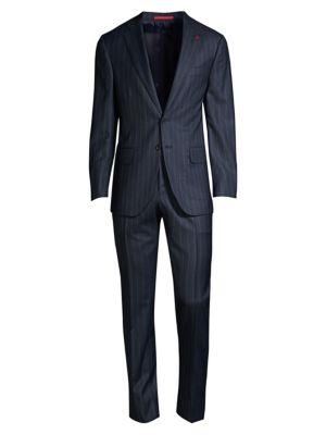 Tonal Striped Wool Suit