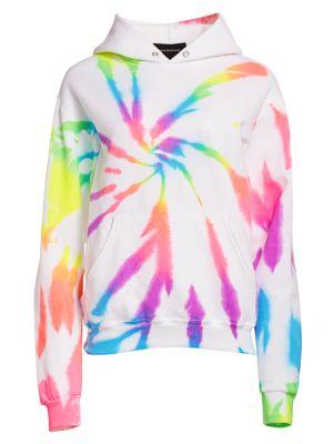 Neon Rainbow Tie-Dye Hoodie