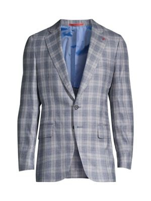Plaid Cashmere & Silk Sportcoat