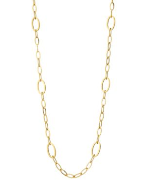Via Brera 18K Yellow Gold Oval Link Necklace