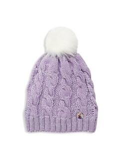디즈니 겨울왕국2 안나 스파클 니트 모자 Charm It! Disneys Frozen 2 Anna Sparkle Knit Hat,Purple