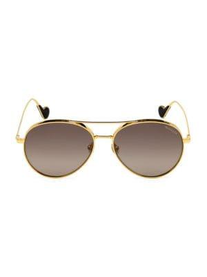 57MM Metal Aviator Sunglasses