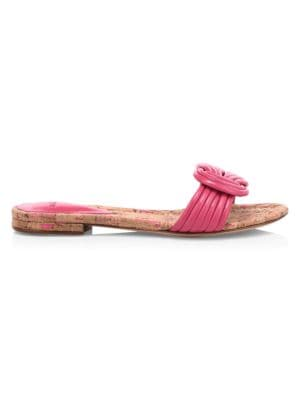 Sue Knotted Flat Leather Sandals