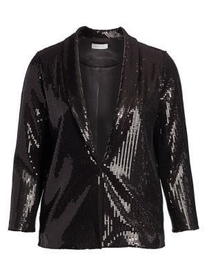 Classic-Fit Sequin Jacket