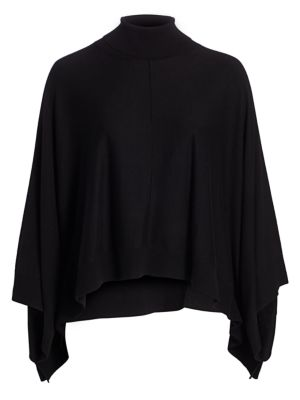 Modern-Fit Turtleneck Poncho Sweater