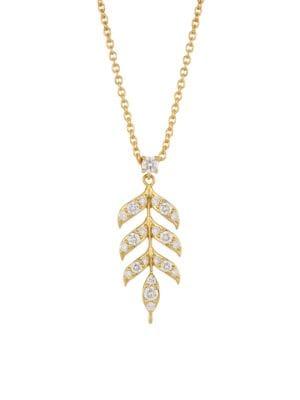 Disney's Frozen 2 x Roberto Coin 18K Yellow Gold & Diamond Wheat Sheaf Pendant Necklace