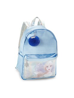 디즈니 겨울왕국2 엘사 벨벳 백팩 Charm It! Disneys Frozen 2 Elsa Velvet Backpack,Blue