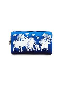 디즈니 겨울왕국2 프린트 집업 파우치 Charm It! Disneys Frozen 2 Embellished Foil Print Zip Pouch,Blue