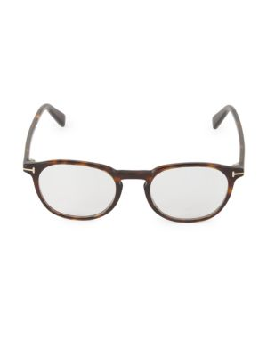 50MM Round Blue Block Optical Glasses
