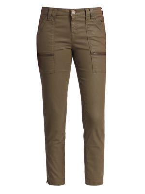 Park Mid-Rise Coated Skinny Pants