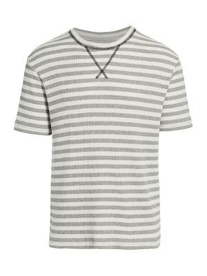Striped Waffle-Knit Cotton Tee