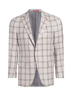 Plaid Silk & Wool Jacket