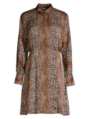 Harmone Leopard Print Shirtdress