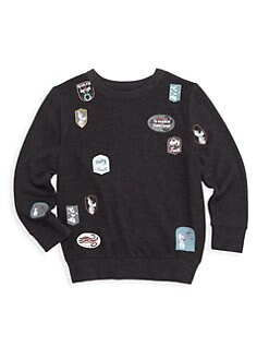 디즈니 겨울왕국2 보이즈 스웨터 Chaser Disneys Frozen 2 Little Boys & Boys Patch Sweater,Black