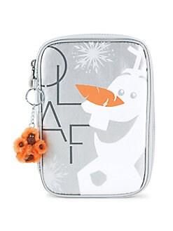 디즈니 겨울왕국2 키플링 올라프 100 팬케이스  Kipling Disneys Frozen 2 Frosted Olaf 100 Pens Case,Frosted Olaf