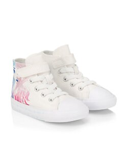 디즈니 겨울왕국2 걸즈 엘사 안나 하이 탑 스니커즈 Disneys Frozen 2 x Converse Baby Girls & Little Girls Elsa & Anna High-Top Sneakers,White Multi