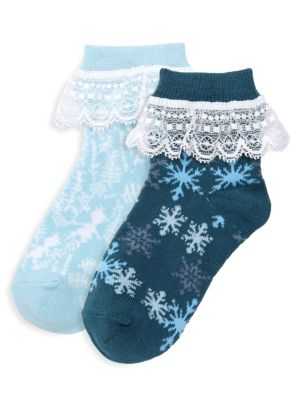 Disney's Frozen 2 Two-Pack Icy Ankle Socks