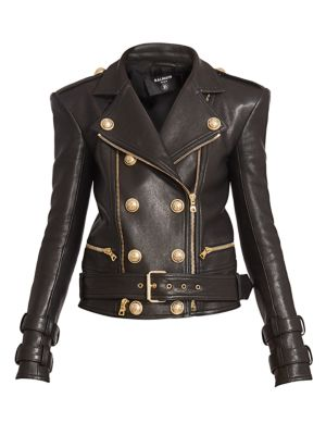 Perfecto Six Button Leather Motorcycle Jacket