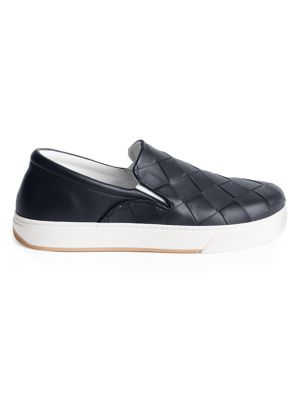 Intrecciato Leather Slip-On Sneakers