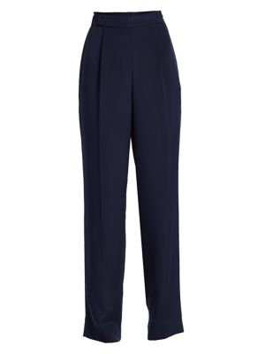 Stretch Silk Pull-On Pants