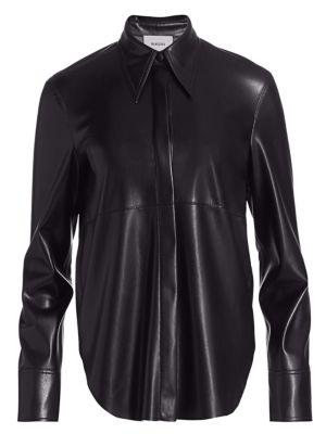Noelle Vegan Leather Shirt