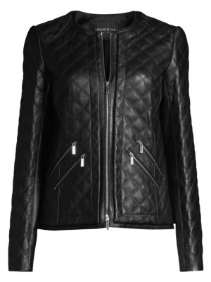 Tanner Leather Quilted Jacket