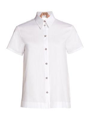 Layered Open-Back Shirt