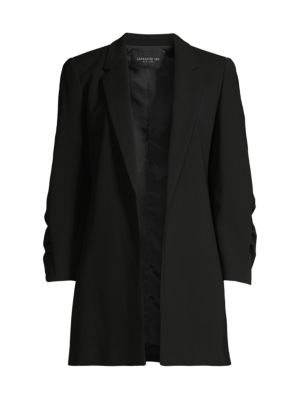 Cole Ruched Sleeve Crepe Blazer