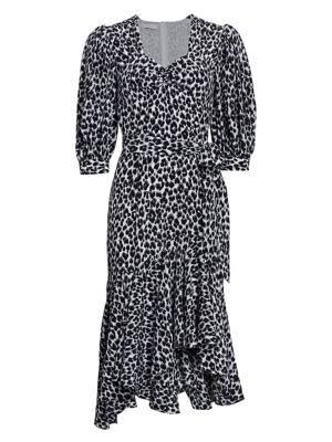 Asymmetric Silk Rumba Dress