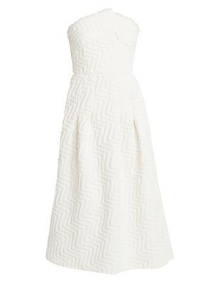 Saranda Strapless Jacquard Dress