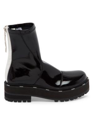 Patent Neoprene Combat Boots