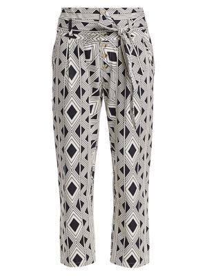 Bohemian Rhapsody Portia Twill Diamond Printed Pants