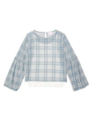 Little Girl's & Girl's Cropped Burnout Top