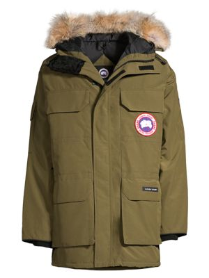 Expedition Coyote Fur-Trim Military Down Parka