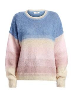 이자벨 마랑 에뚜왈 스웨터 Isabel Marant Etoile Drussell Dip-Dye Mohair-Blend Sweater,Blue
