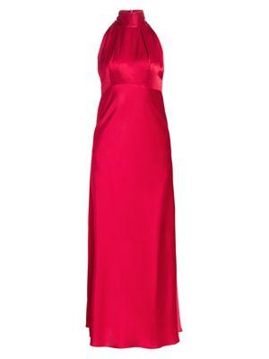 Michelle Silk Halter Midi Dress