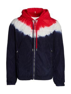 Tie-Dye Zip Front Jacket