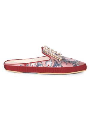 Lounge Strass Floral-Print Mules
