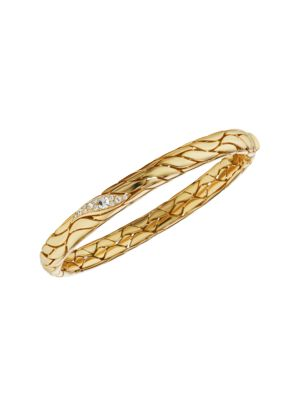 Petal 18K Yellow Gold & Diamond Bangle Bracelet