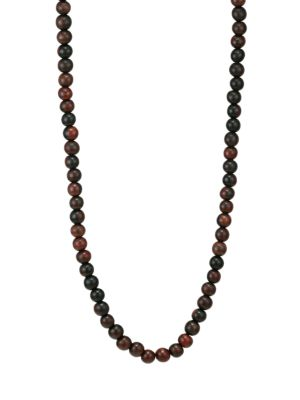 Voyager 18K Yellow Gold & Wood Bead Long Necklace