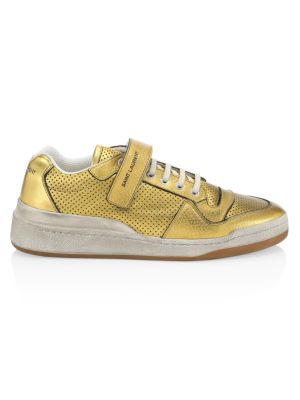 SL24 Perforated Metallic Leather Sneakers