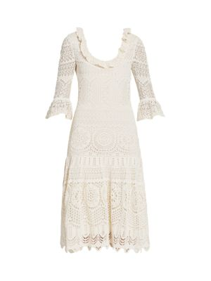 Lace Knit Midi Dress