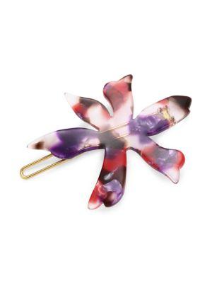 Paper Lily Multicolor Acetate Barrette